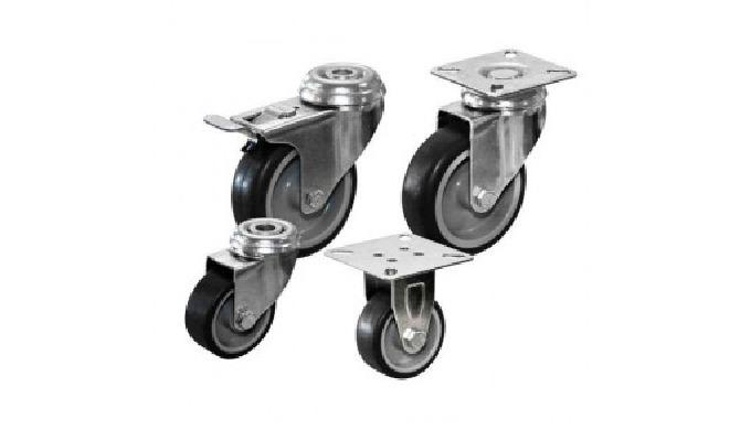 Mellemstore apparathjul ø75-ø125 mmApparathjulBeskrivelse Grå termoplastisk afsmitningsfri elastik g...