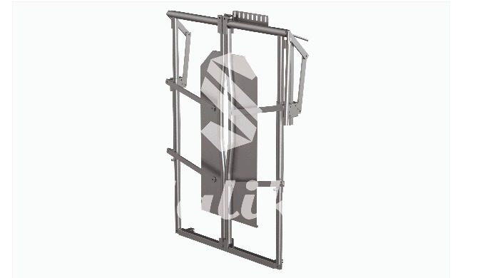 Cage mechanism for cattle stand Cattle head restrain for different size cattle with automatic handle...