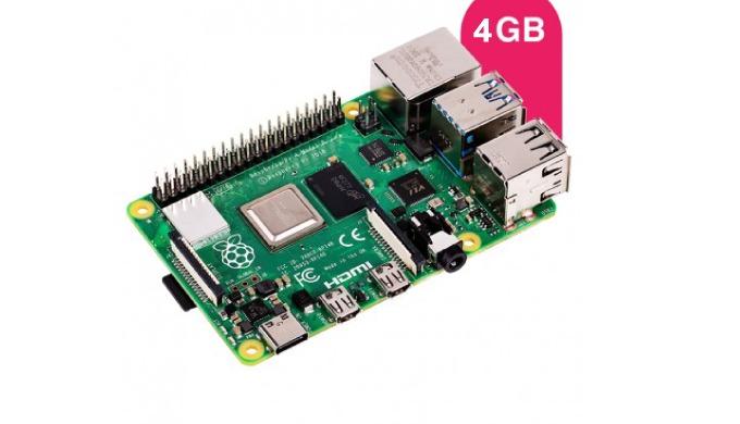ProcesseurARM v8, Quad-core Cortex-A72 64bit SoC@ 1,5GHz, Broadcom BCM2711 Mémoire4GB Connectique2 x...