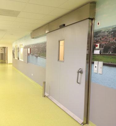Puerta corredera hermética cortafuegos sanitaria TH7 EI (30-60-90 min)