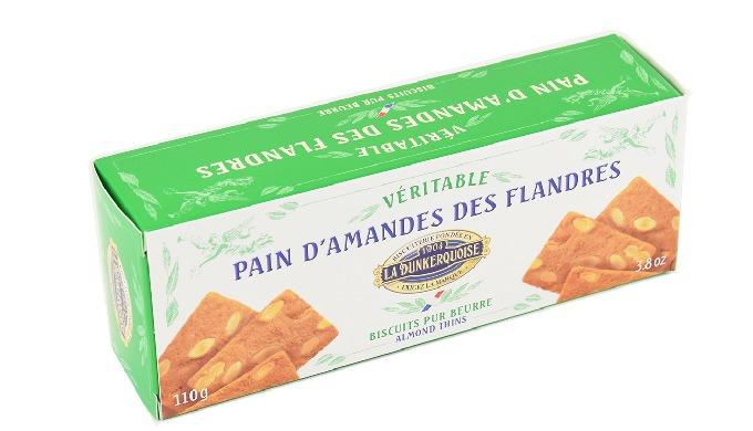 Etui garni de Pain d'Amandes en sachet opaque aluminisé, garant d'une fraîcheur totale. Ingrédients:...