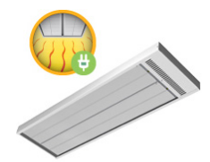 WARMS LIKE THE SUN A flexible electric radiant panel which can be mounted from 2-40m. Can be used fr...