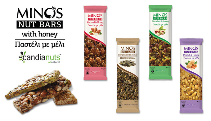"""MINOS""  NUTS &  SESAME  BARS WITH HONEY"