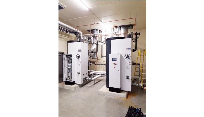 Bei einer Mehrfachanlage von CERTUSS handelt es sich um mehrere in Reihe geschaltete Dampfkessel plu...