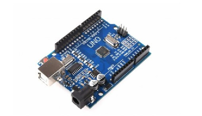 Vývojová deska Uno, kompatibilní s Arduino UNO, s USB převodníkem CH340G a USB-B konektorem. Nejoblí...