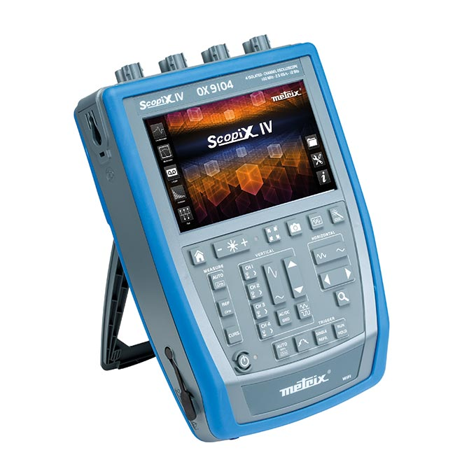 Autonomes, portables, complets, IP54, les nouveaux oscilloscopes METRIX® SCOPIX IV sont dotés de vra...
