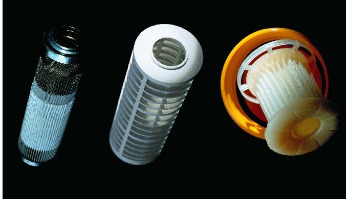 Filterkomponenten aus synthetischen Geweben