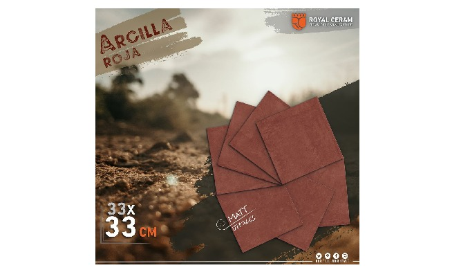 Size: 33x33cm Color: Rojo Type: Floor tiles