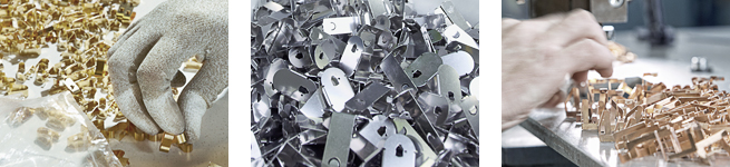 We use nickel silver, steel, stainless steel, spring steel, copper, copper metal alloys, and alumini...