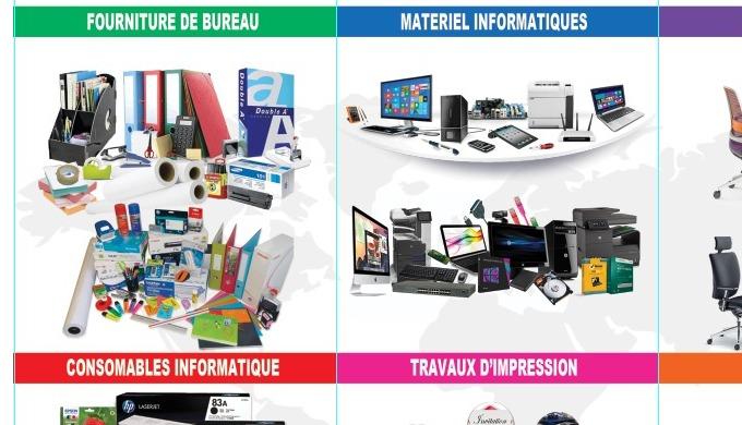 Fourniture de bureau Consommable informatique Travaux d'impression Gravage Fourniture Scolaire Papet...