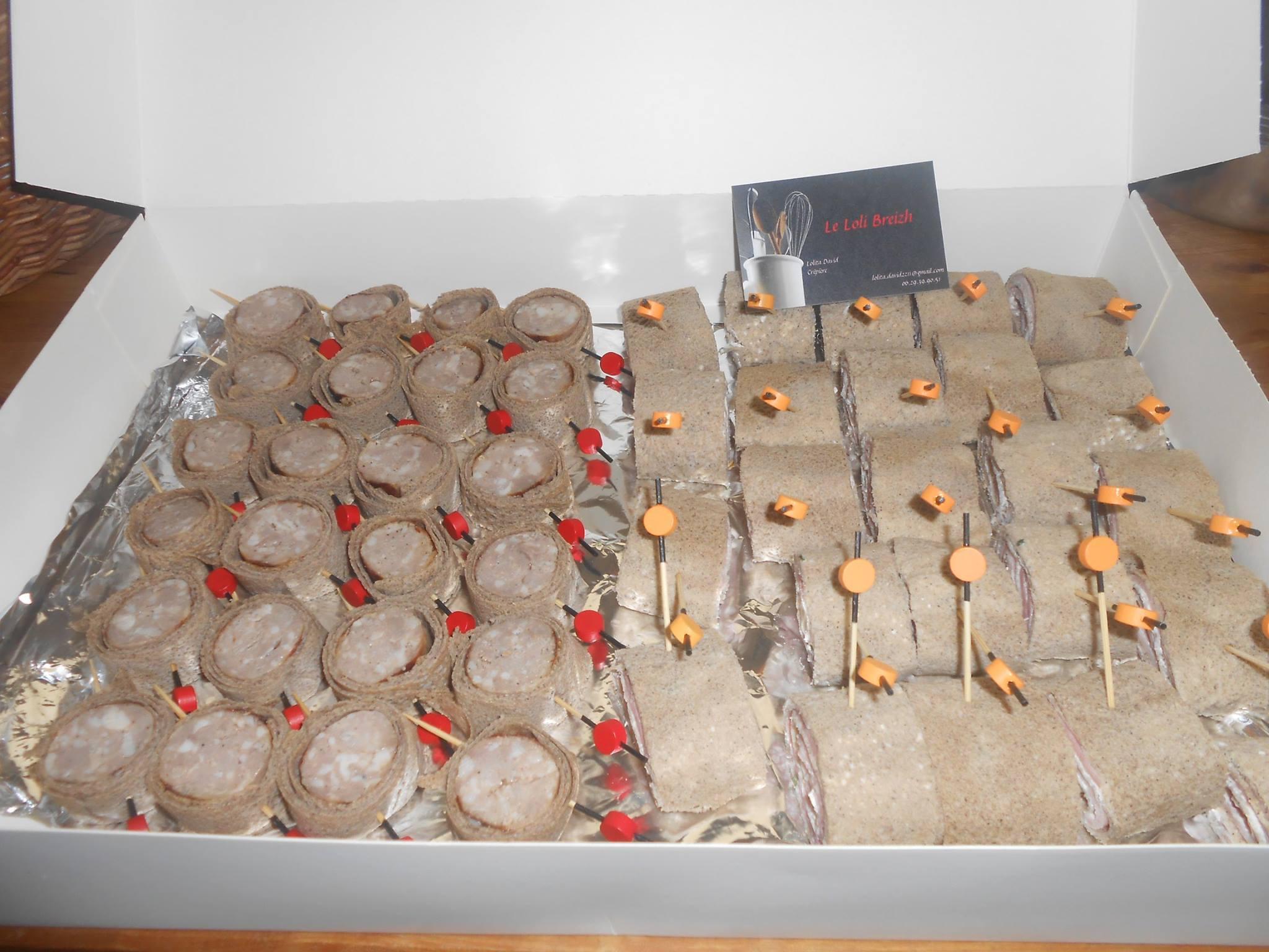 crêpes, galettes et spécialités maison des amuses bouche original a base de galettes et de produit d...