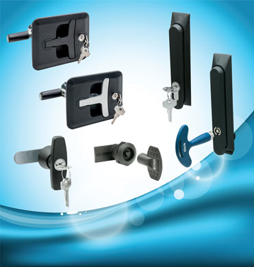 Elesa provide a range of IP65 security locking handles, swing handles and ¼ turn locks/latches for e...