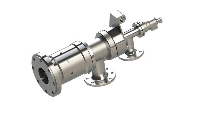 Drehdurchführung für Wasser / Dampf / 4-Wege / Industrie