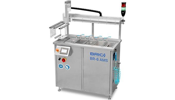 Série AMS - LENS. Équipement automatique à plusieurs étages pour les fabricants de lentilles.