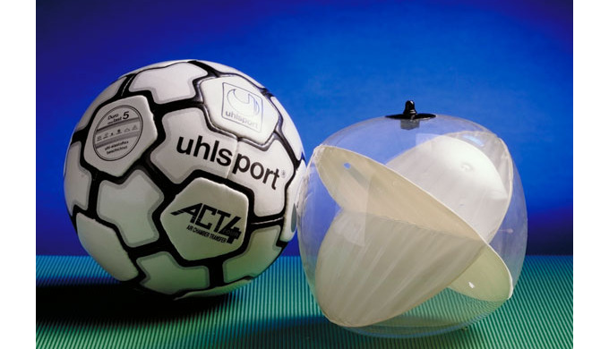 Ballblase z. B. eines Fussballballs