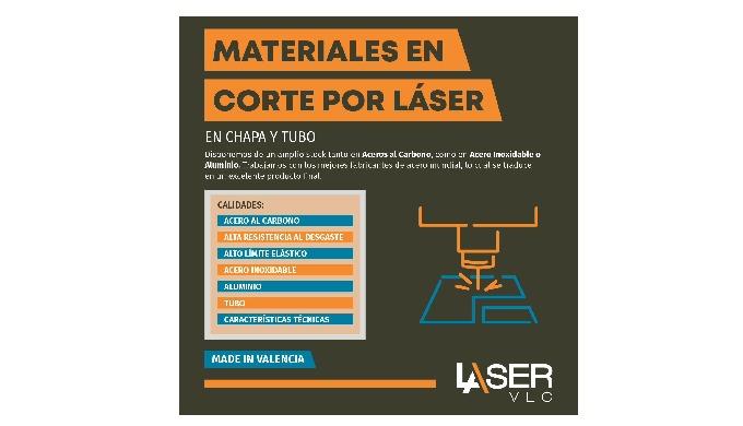 Materiales en Corte Por Laser