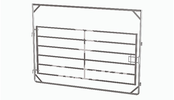 Wing gate (gate for cattle paddock, cattle fencing.) Size: 3.0m x 2.2m Opens in both directions. Can...