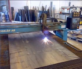 Vi skär efter ritning eller från CAD-filer. Mycket kostnadseffektivt vid stora serier. Gas/Plasma. S...