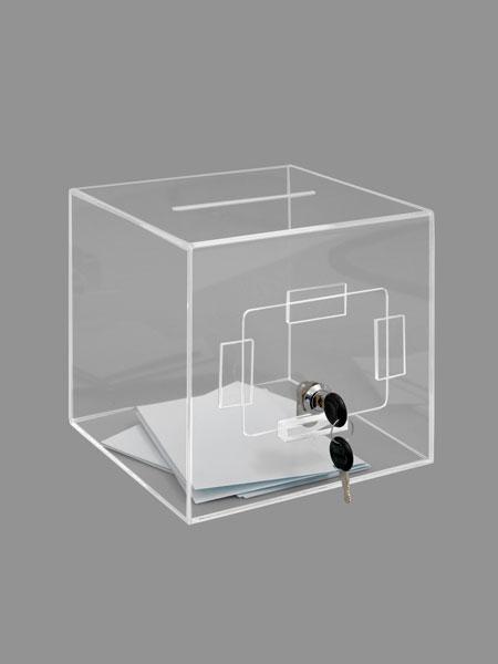 Pour jeux, élections, concours etc !Fente d'introduction Longueur 12 cm x largeur 5 mm.Fabrication p...