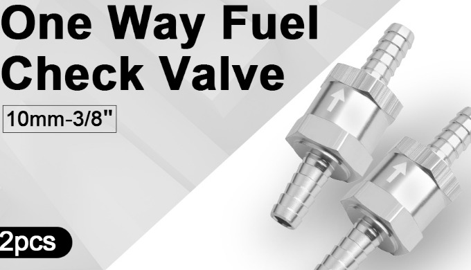 This check valve designs with one way can prevent fuel from returning back to the tank and keep it i...