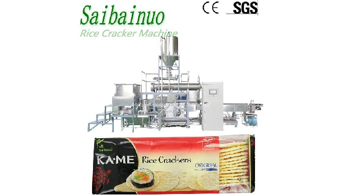 Rice Cracker Making Machinery is using advance extrusion technology technology,with rice flour as ma...