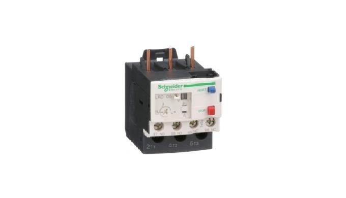 Relais de protection thermique à réarmement manuel ou automatique de 0,1 à 150 A, et 0,06 à 75 kW.