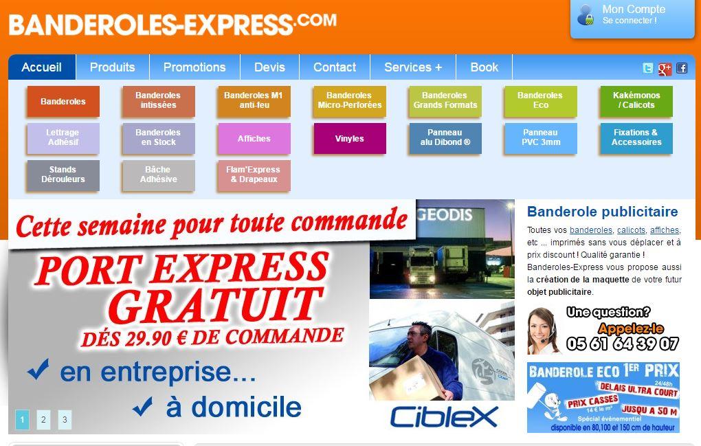 L'entreprise Banderole express est spécialisée dans la création de panneau publicitaire de très haut...