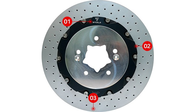 STOLZ ULTRA LIGHT DRILLED DISC ROTOR ㅣ Brake system parts and function
