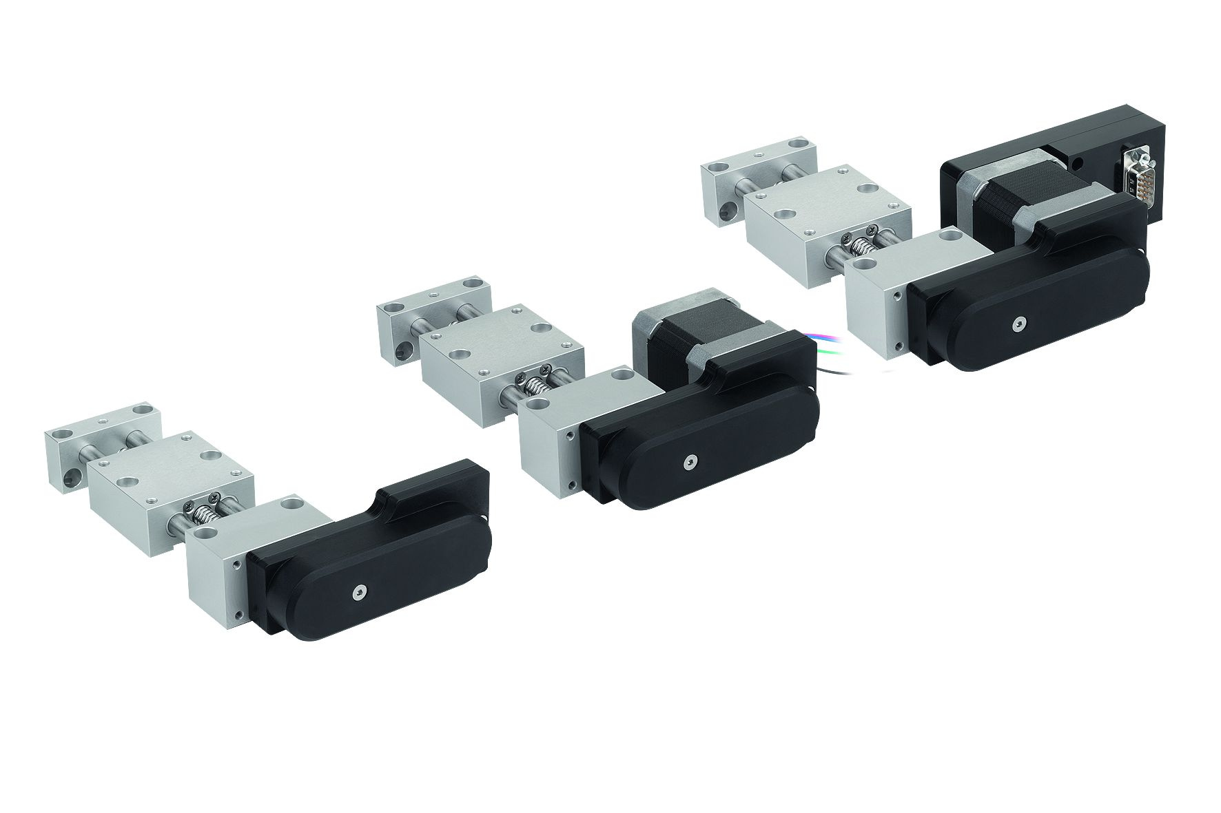Material: Bearing block and carriage aluminium alloy anodized. Guide column and threaded spindle wit...