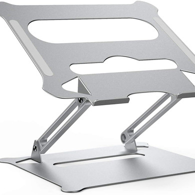Adjustable aluminum folding tablet desktop stand
