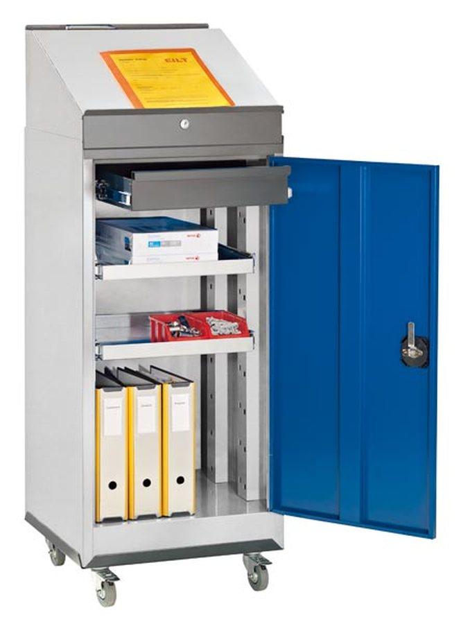Für Lager, Werkstatt und Betrieb Unterschiedlichste Materialien auf engstem Raum Mit zusätzlichen Sc...
