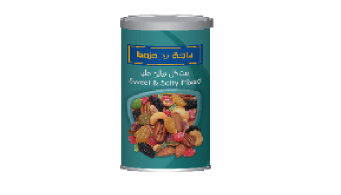Sweety & Salty Mix can - 450g Sweety & Salty Mix Doy - 120g & 280g