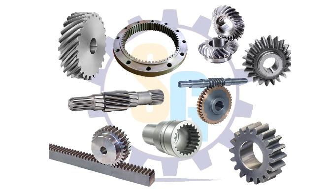 Spur Gears, Helical Gears, Pinion Shafts, Internal Gears, Worm & Worm wheel, Straight Bevel Gears, S...