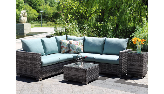 Steel Frame Maintance Free Hand Weave Outdoor garden luxury Rattan furniture Washable Cushions HB41....
