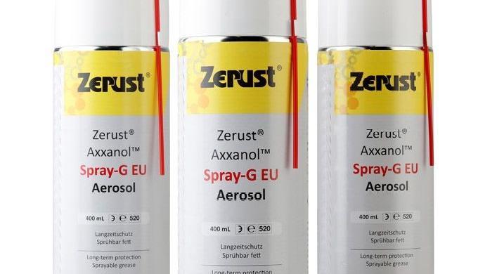 Zerust Axxanol ™ anti-korrosionsspray (Spray-G) giver overlegen korrosionsbeskyttelse i en bekvem sp...