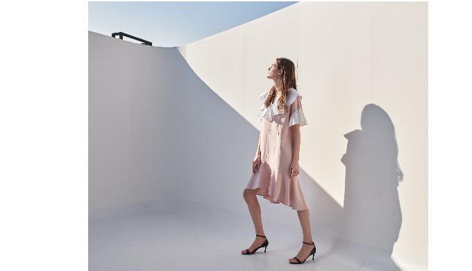 White Ruffle Dress / Coett