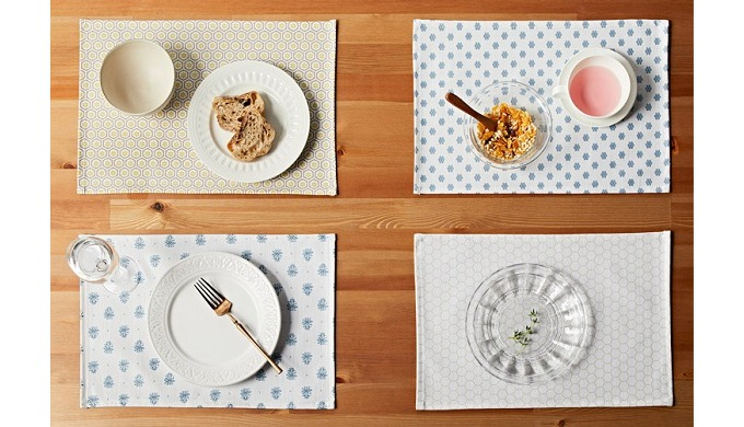 Korean Modern  Pattern Coated Place mat