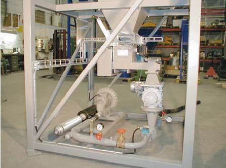 Tomal levererar pneumatiska transportsystem inkl. doseringsutrustning avsedda för pulver och granula...