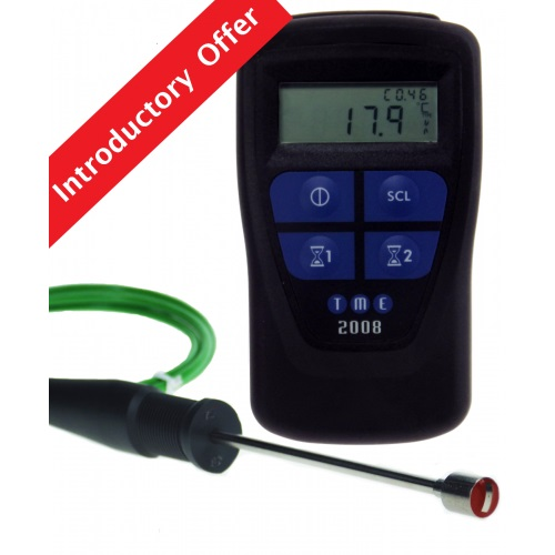 CLEGK1 Compact Legionella Temp Kit, featuring the new MM2008 Legionella Thermometer with Integral Ti...