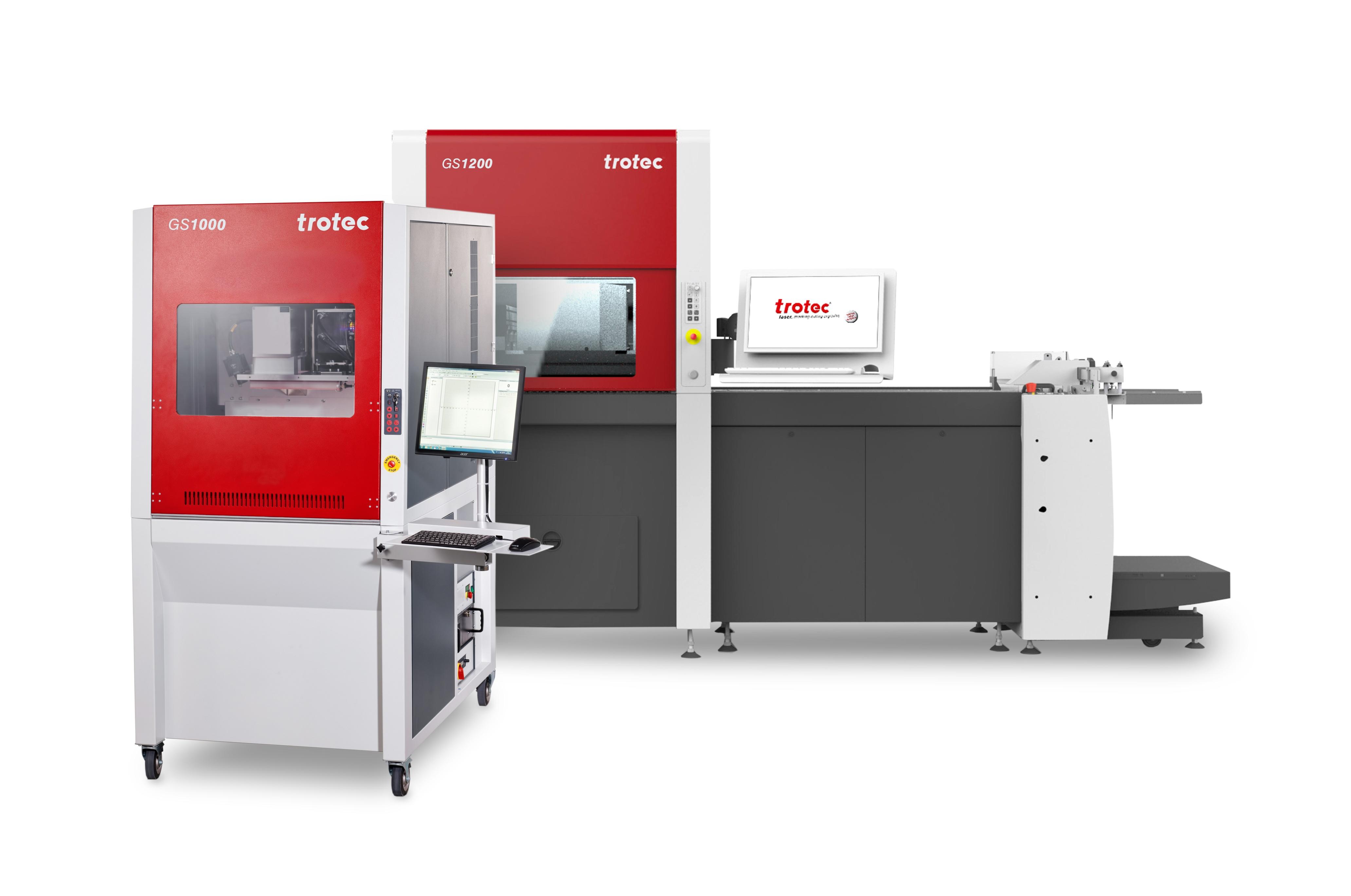 Die GS Lasersysteme eignen sich für sekundenschnelles Laser-Schneiden und hochvolumiges Papierfinish...
