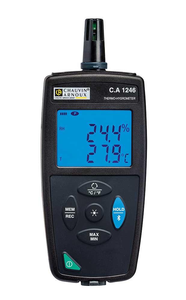 Le C.A 1246 est un instrument 3 en 1 permettant la mesure de l'humidité relative, de la température ...