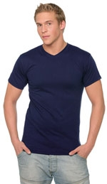 T-shirt Col V couleur Fruit of the Loom 61-066-0
