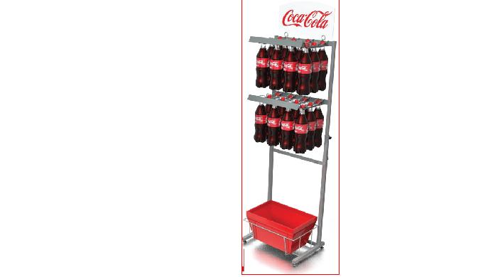 Стенд Coca Cola с корзинами