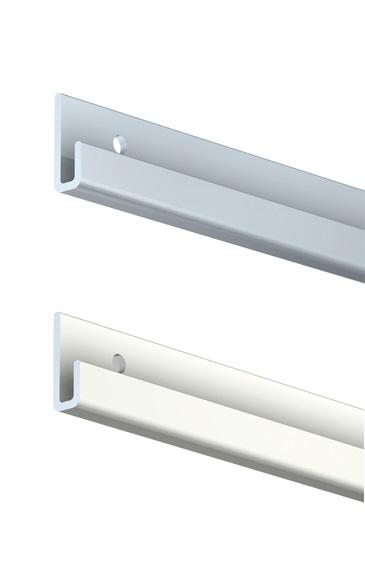 Pour suspendre tiges ou câbles2 finitions: alu naturel ou alu laqué blancAvec perforations pour fixa...