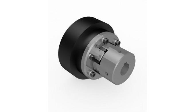 Centrifugal clutch with elastic clutch