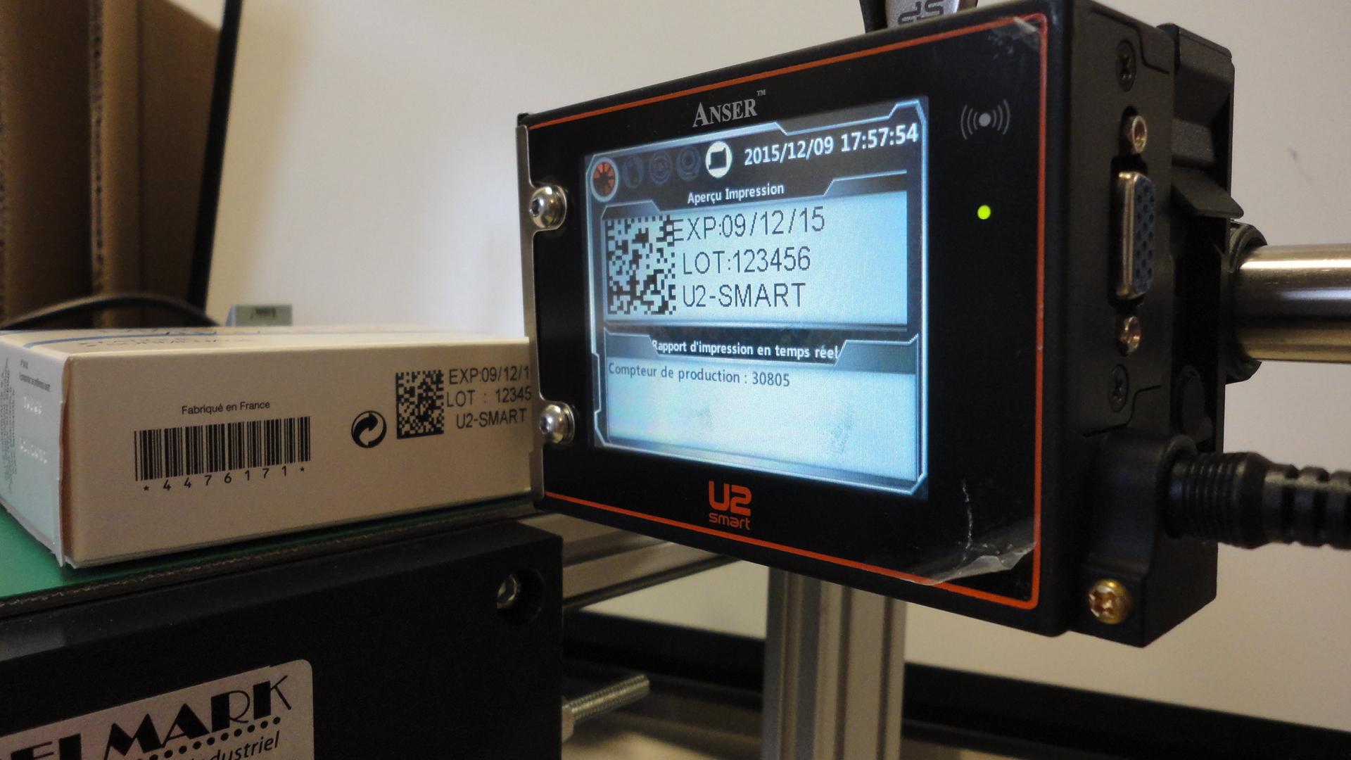 Codeur U2-SMART pour marquage carton et étiquette papier