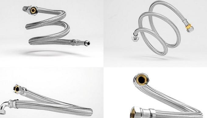 Flexibele rvs slangen voor sanitair, HVAC, koeling en lage temp. verwarming, drinkwatertoepassingen,...