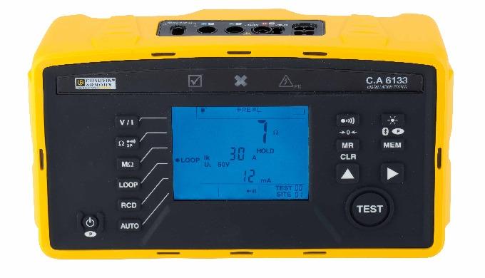Destinés à vérifier la sécurité des installations électriques, les contrôleurs C.A 6131 et C.A 6133 ...