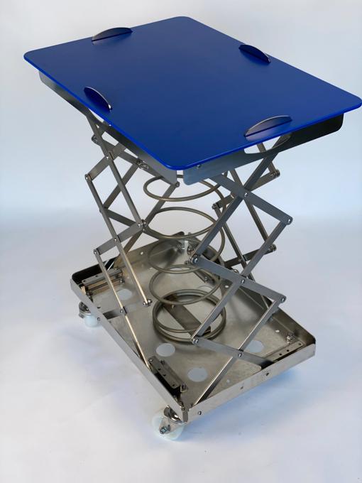Chariot ergonomique avec système de base à ressort en 304L, dimension 600X400. Une innovation ergono...