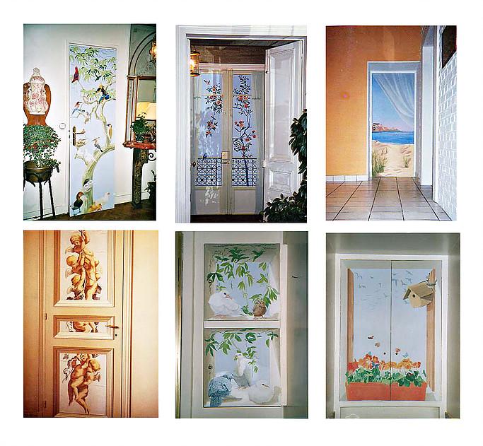 Trompe l'oeil porte et fenêtre : cet art de décoration permet à la pièce étroite ou très petite de d...